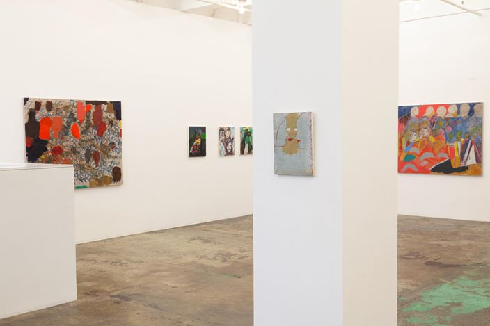 Exhibition view: Jackie Gendel,Stained Glass Cliff, Thomas Erben Gallery, New York (21 February–6 April 2019). Courtesy Thomas Erben Gallery.