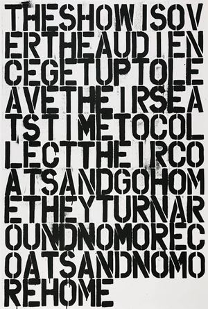 The Show is Over by Christopher Wool And Felix Gonzalez-Torres contemporary artwork