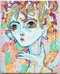 i would rather be crazy by Del Kathryn Barton contemporary artwork mixed media