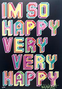 I'm So Happy! by Ben Eine contemporary artwork print