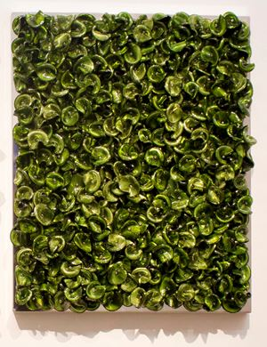 Green on Green (Dark/Mixed) by Dani Marti contemporary artwork
