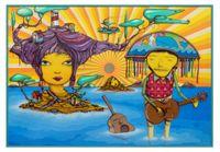 The pretty island by OSGEMEOS contemporary artwork mixed media