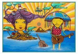The pretty island by OSGEMEOS contemporary artwork