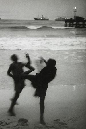On Accra Beach, Ghana by Marc Riboud contemporary artwork