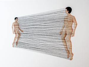 Confinement to Expectations:  Father and Son by Gongkan contemporary artwork