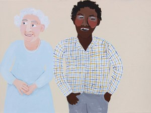 The Queen and Me by Vincent Namatjira contemporary artwork