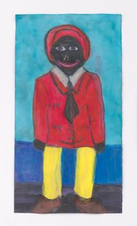 Male Doll with Yellow Legs by Betye Saar contemporary artwork painting