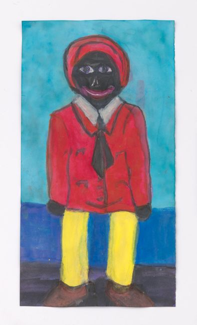 Male Doll with Yellow Legs by Betye Saar contemporary artwork