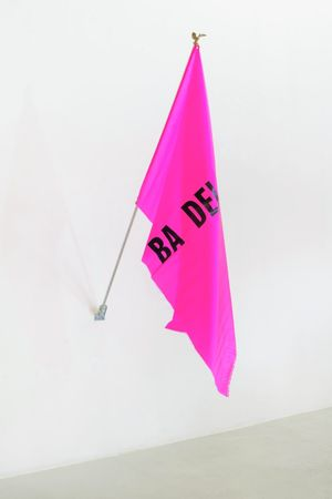 Untitled (small flag 5) by Reena Spaulings contemporary artwork