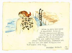 TRÄUME ICH TREFFE VALIE EXPORT IM SCHWIMMBAD [...] by Ingrid Wiener contemporary artwork