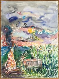 Summer Rhapsody 4 夏日狂想曲 4 by Liu Weijian contemporary artwork works on paper