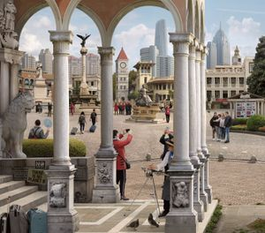Italian Style Town (after Carpaccio) by Emily Allchurch contemporary artwork