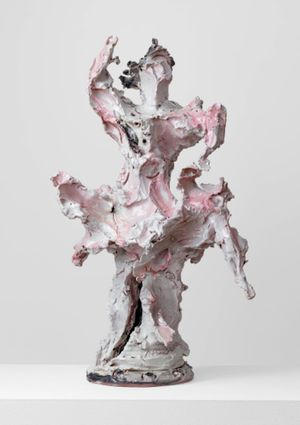 Ballerina by Lucio Fontana contemporary artwork sculpture, ceramics