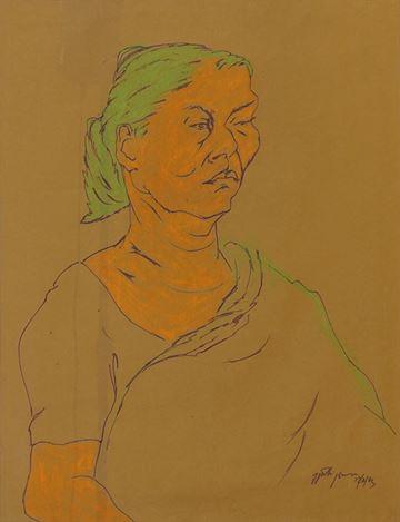 V.N. Jyothi Basu, Untitled(1983).Dry pastel on paper. 57 x 44 cm.Courtesy Galerie Mirchandani + Steinruecke, Mumbai.