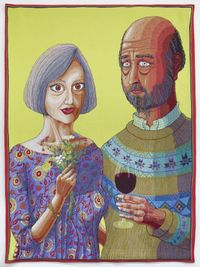 Julie and Rob by Grayson Perry contemporary artwork textile