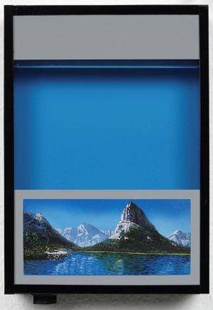 Pocket vacation box - Cobalt Blue by Naoya Inose contemporary artwork