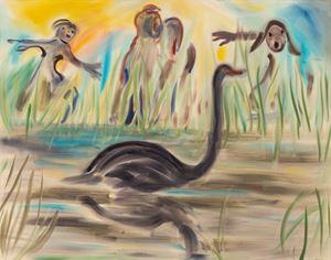 Never Does Run Smooth by Sophie von Hellermann contemporary artwork