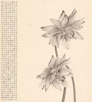 A Duet Lotus by Zhang Yirong contemporary artwork
