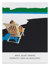 Ben's Jacket Drapes… by John Baldessari contemporary artwork painting