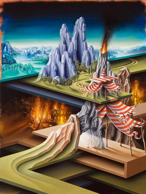 Jacobs Tent on his descent on the underworld by Peter Daverington contemporary artwork