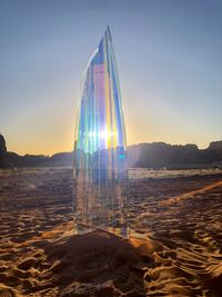 Horizon of Day and Night (monolith i.ii.96°) by Shuster + Moseley contemporary artwork sculpture