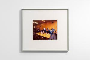 Drivers Discussing Redundancies, Morley's Café, Markham Moor, Nottinghamshire by Paul Graham contemporary artwork