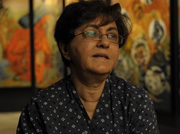 A Retrospective Of The Works Of Nalini Malani Who Paints Is Reverse