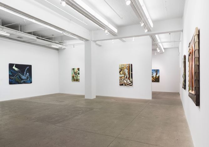 Exhibition view: Kyle Dunn, Into Open Air, P.P.O.W Gallery, New York (10 September–17 October 2020). Courtesy P.P.O.W Gallery.