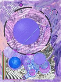 Hommage to Plum Nellie by Robert Reed contemporary artwork mixed media