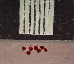 Cherries in front of a Window 《窗與櫻桃》 by Yeh Shih-Chiang contemporary artwork