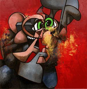 Internal Riot by George Condo contemporary artwork