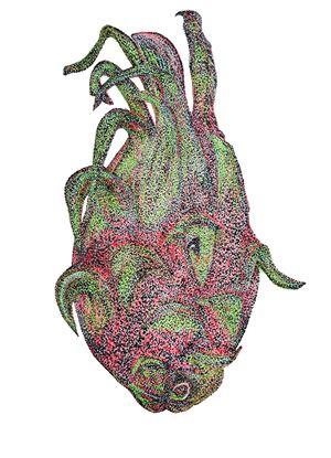 WfH Series - Petite Pitaya by Eddie Lui contemporary artwork
