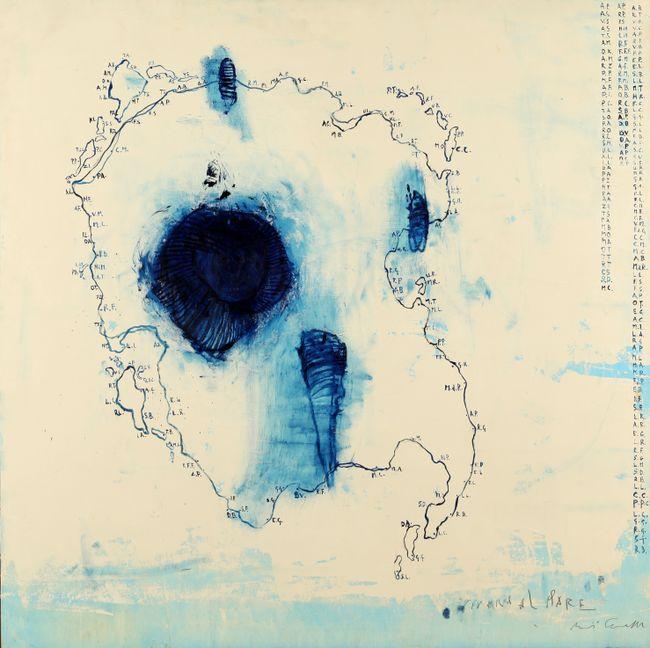 Vivere al mare by Piero Pizzi Cannella contemporary artwork