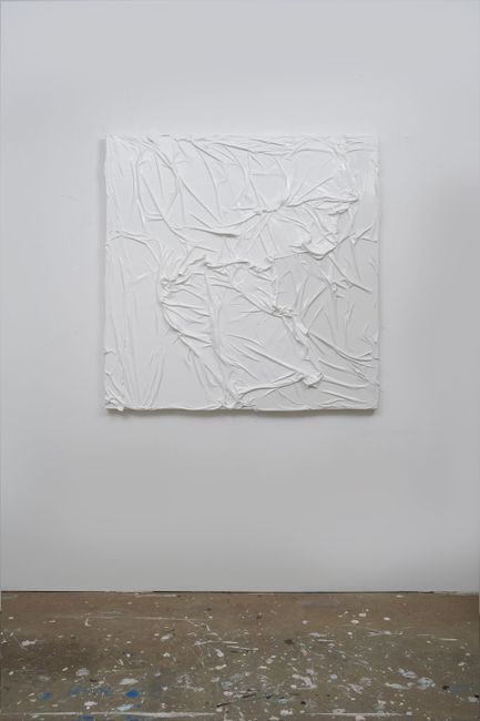 Untitled (White on White #5) by Huseyin Sami contemporary artwork