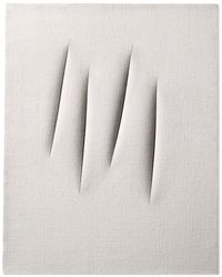 Concetto Spaziale, Attese (Spatial Concept, Waiting) by Lucio Fontana contemporary artwork painting