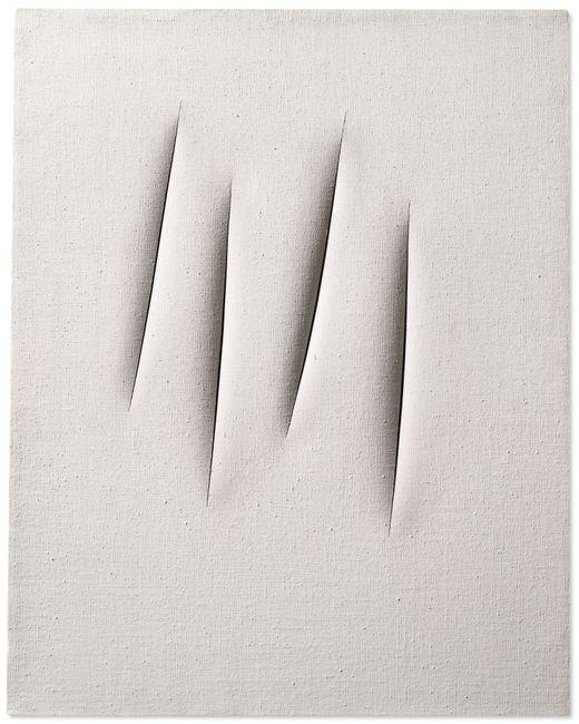 Concetto Spaziale, Attese (Spatial Concept, Waiting) by Lucio Fontana contemporary artwork