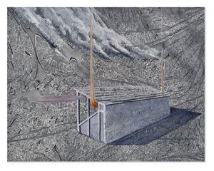 Main Stand #1 by Derek Cowie contemporary artwork