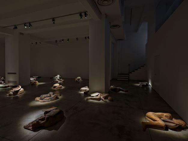 Exhibition view: Mimmo Paladino, I Dormienti, Cardi Gallery, Milan (22 February–30 April 2021). Courtesy Cardi Gallery.