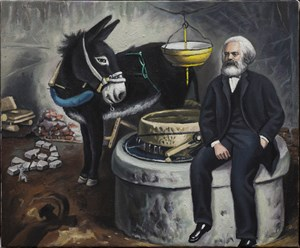 Marx and Donkey by Qin Qi contemporary artwork