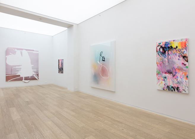 Exhibition view: Jeff Elrod, Alex Hubbard, Yang Shu, Group Exhibition, Simon Lee Gallery, Hong Kong (13 July–4 September 2018). Courtesy Simon Lee Gallery.