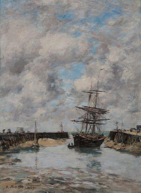Trouville, Chenal marée basse by Eugène Boudin contemporary artwork