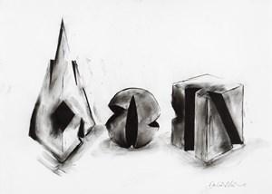 Pyramid, Sphere, Cube by David Nash contemporary artwork