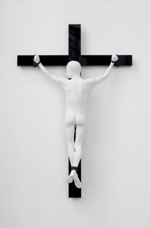 Reversed Crucifix by Elmgreen & Dragset contemporary artwork