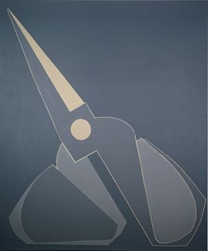 Outline, Black-grey Scissors, Inclined by Mao Xuhui contemporary artwork