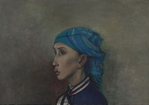 Sketch in Guishan, Portrait of Li Jia by Mao Xuhui contemporary artwork