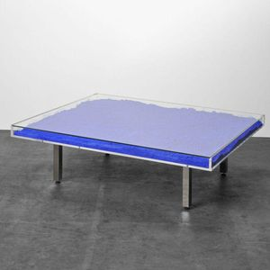 Table Bleu Klein IKB by Yves Klein contemporary artwork