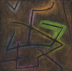 Detail of Schema eines Kampfes (Diagram of a fight) by Paul Klee contemporary artwork