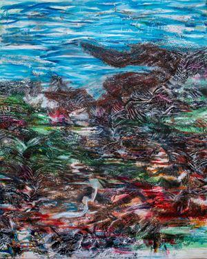 山的迴響 Mountain Reverberation by Suling Wang contemporary artwork