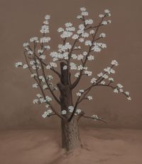 White Pear Blossoms by Yan Bing contemporary artwork painting, works on paper