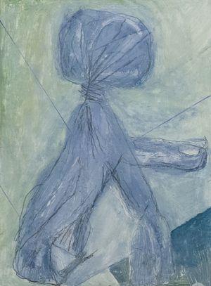 묶은 비닐봉투 by Park Noh-wan contemporary artwork